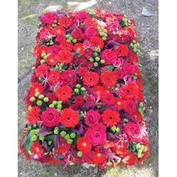 Coussin de fleurs rectangulaire
