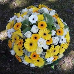 Cuscino rotondo a fiori -...