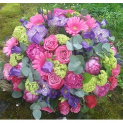 Blumenstrauß Léa - Grün Pink