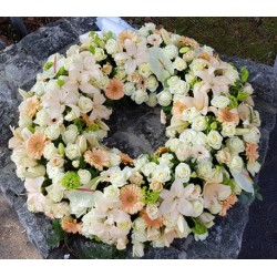 Wreath - Pastel White