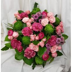 Bouquet coloré - Rose Rouge...