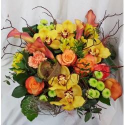 Panier fleuri - Multicolor...