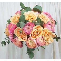 Bouquet rond - Rouge Violet