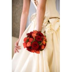 Bouquet mariée rond rouge