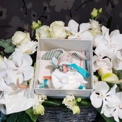 Geburtskorb Blumen und...
