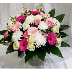 Bouquet-Pastel-rosé- classique