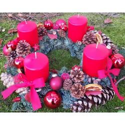 Weihnachts- rote  Adventskranz