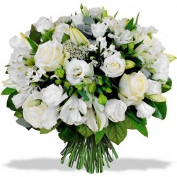 Round bouquet of lilies -...