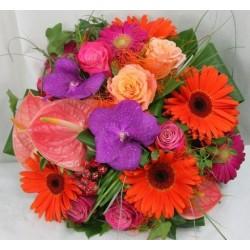 Bouquet rond radieux -...
