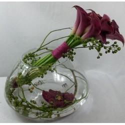 Vase of callas - Violet