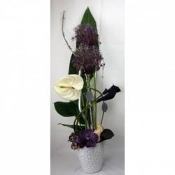 Blau-grün-weißen Blumenstrauß
